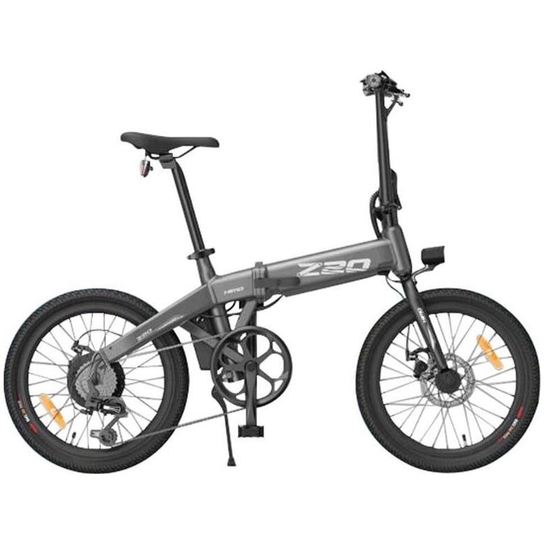 Fotografie Bicicleta electrica Himo Z20 Argintiu ,20 inch, Motor 250W,Baterie Li-Ion 36V-10Ah,3 moduri de conducere,display LCD de inalta calitate,baterie detasabila,pompa de umflat roti incorporata,sistem dual de franare,sistem inteligent de putere