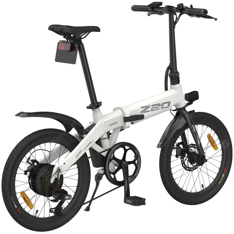 Fotografie Bicicleta electrica Himo Z20 Alb ,20 inch, Motor 250W,Baterie Li-Ion 36V-10Ah,3 moduri de conducere,display LCD de inalta calitate,baterie detasabila,pompa de umflat roti incorporata,sistem dual de franare,sistem inteligent de putere