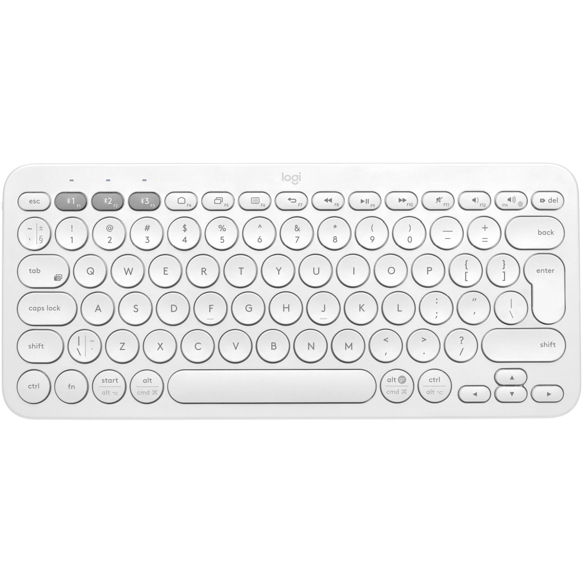 Fotografie Tastatura Bluetooth Logitech K380, Multi-Device, Alb