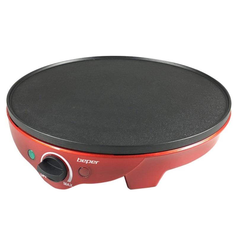 Fotografie Aparat pentru prepararea clatitelor Beper BT.700Y, 1300W, diametru plita 30 cm, temperatura ajustabila, Rosu