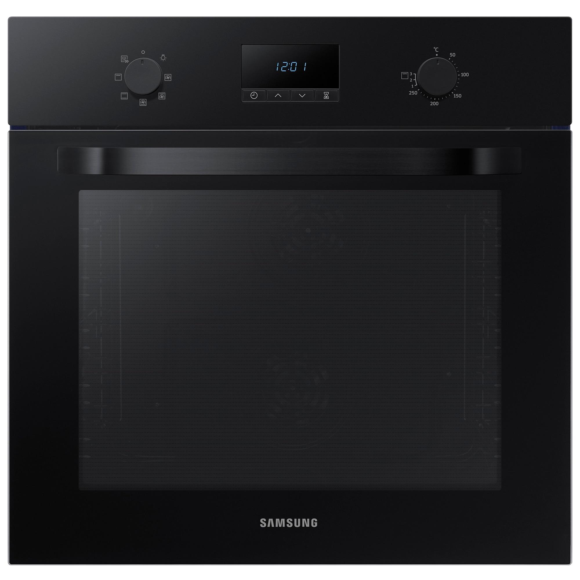 Fotografie Cuptor incorporabil Samsung NV70K1340BB/OL, Electric, Autocuratare catalitica, 68 l, Clasa A, Grill, Negru