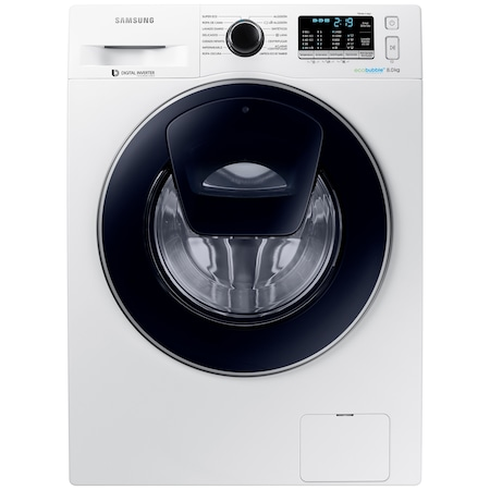 Masina de spalat rufe Samsung AddWash WW80K5410UW/LE, 8 kg, 1400 RPM, Clasa A+++, Motor Digital Inverter, EcoBubble, Alb