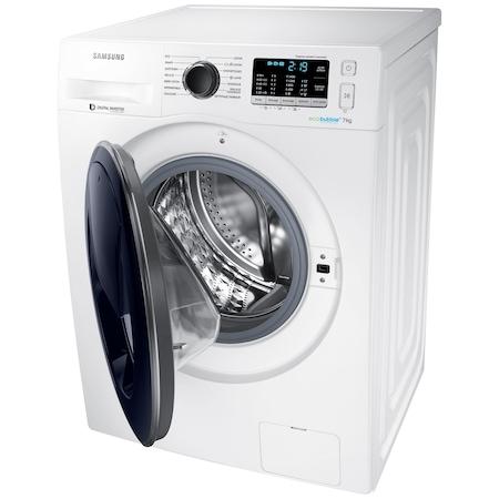 Masina de spalat rufe Samsung Eco Bubble AddWash WW70K5410UW/LE, 1400 RPM, 7 kg, Inverter, Clasa A+++, Alb
