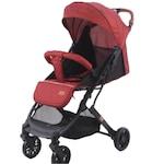 Bubu-Still® babakocsi, sportkocsi, alumínium keret, 6-36 hónap, piros, bőr fogantyú