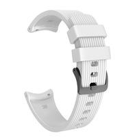 Силиконова каишка SPulse за смарт часовник Samsung Galaxy Watch R810 42mm /Galaxy Watch Active, 20mm, бяла