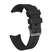 Силиконова каишка SPulse за смарт часовник Samsung Galaxy Watch R810 42mm /Galaxy Watch Active, 20mm, черена