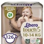 Libero Touch 5 pelenka, 10-14 kg, 3x42 db, 126 db