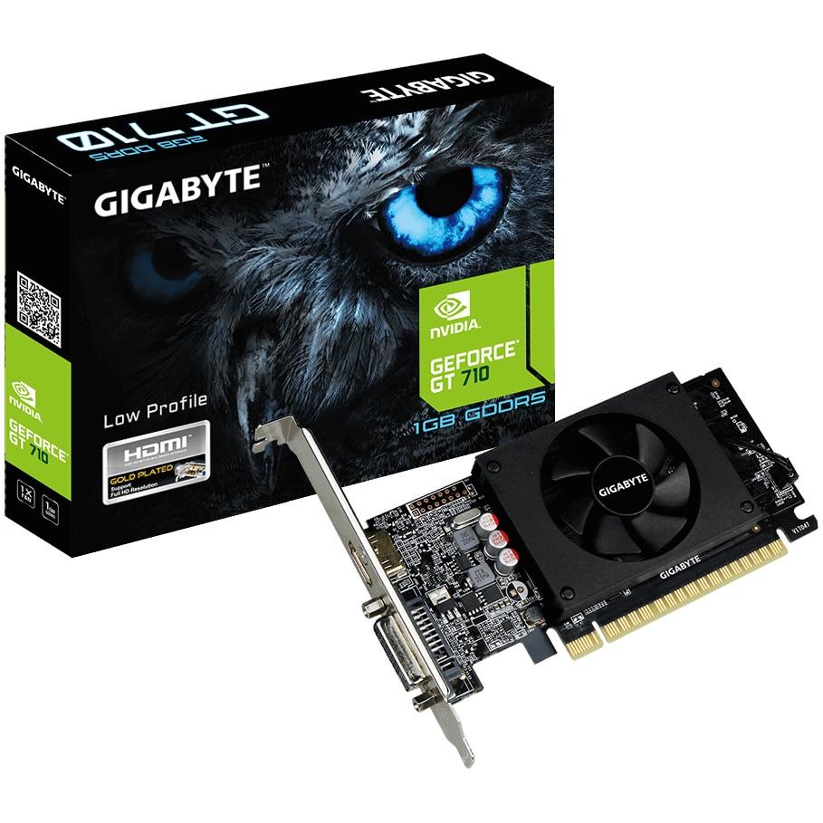 Fotografie Placa video Gigabyte GeForce® GT 710, 1GB GDDR5, 64-bit