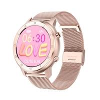 Смарт часовник Smart Wear GT89, IP68 Водоустойчивост, Пулс, Калории, Bluetooth, Ултратънък, Розова пепел