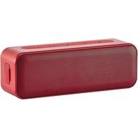 Boxa portabila AmazonBasics, impermeabil, 15W, stereo, Bluetooth, indicator Led, Rosu