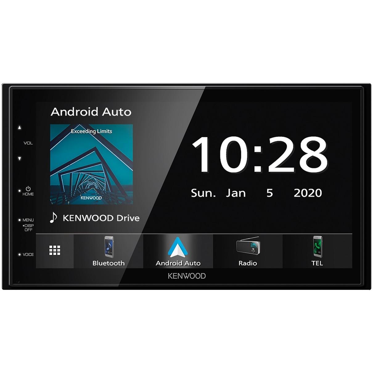 "Fotografie Sistem multimedia Kenwood DMX5020BTS 2 DIN fara CD, Apple CarPlay & Android Auto Mirroring pentru Android, Ecran tactil capacitiv de 6.8"", USB 1.5A, Bluetooth® incorporat, Conectare rapida smartphone"