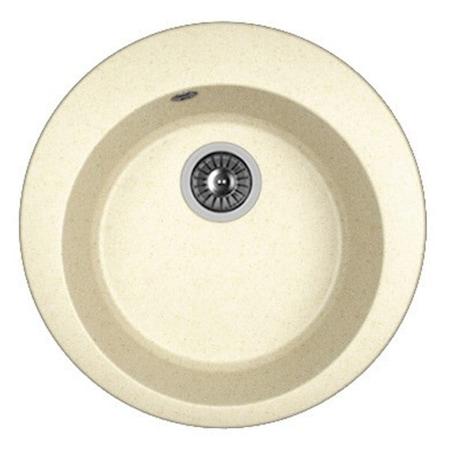 Кухненска мивка DR. GANS Gala, Композитен гранит, 510 мм, Дълбочина на коритото 200 мм, Бежов мат