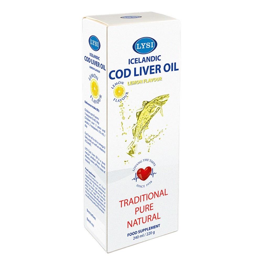 Ulei din ficat de cod cu Omega 3 și vitaminele D și A, 80 capsule, Lysi