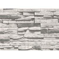 Tapéta DEGRETS 267-01 Mosható, Nedvességálló, Kő szürke, Méret: 0.53m x 10.05m = 5.3 m2