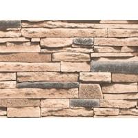 Tapéta DEGRETS 267-03 Mosható, Nedvességálló, Tégla bézs, Méret: 0.53m x 10.05m = 5.3 m2