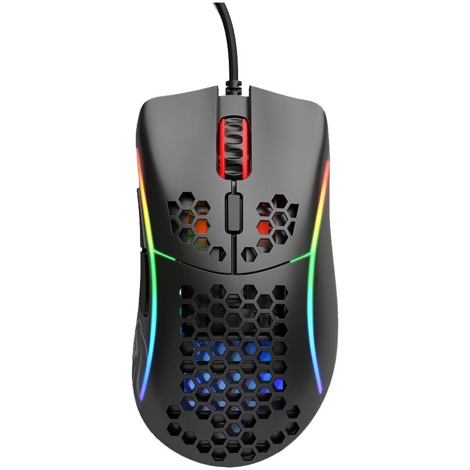 Fotografie Mouse gaming Glorious Model D Minus, Ultrausor 61g, Negru Mat
