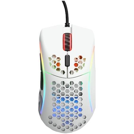 Мишка Gaming Glorious Model D Minus, Ултралека, 61 гр, Бял мат
