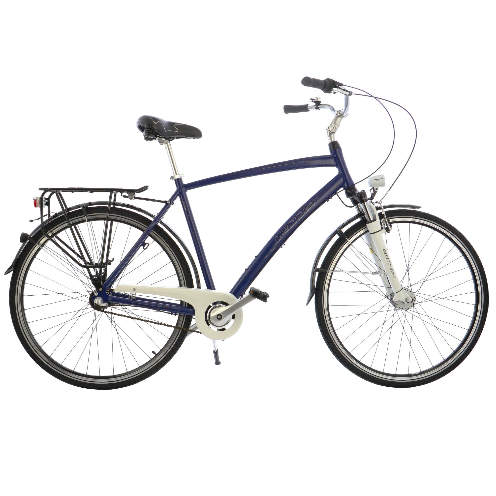 """Fotografie Bicicleta City 28"""" Leader Leader M Shimano NX 3v, furca Suntour, cadru AL, 56cm, Blue"""