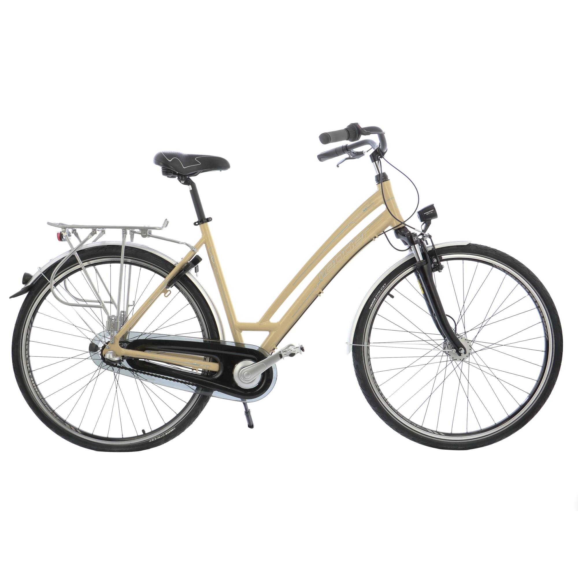 "Fotografie Bicicleta City 28"" Leader Leader W Shimano NX 3v, furca Suntour, cadru AL, 53cm, Beige"