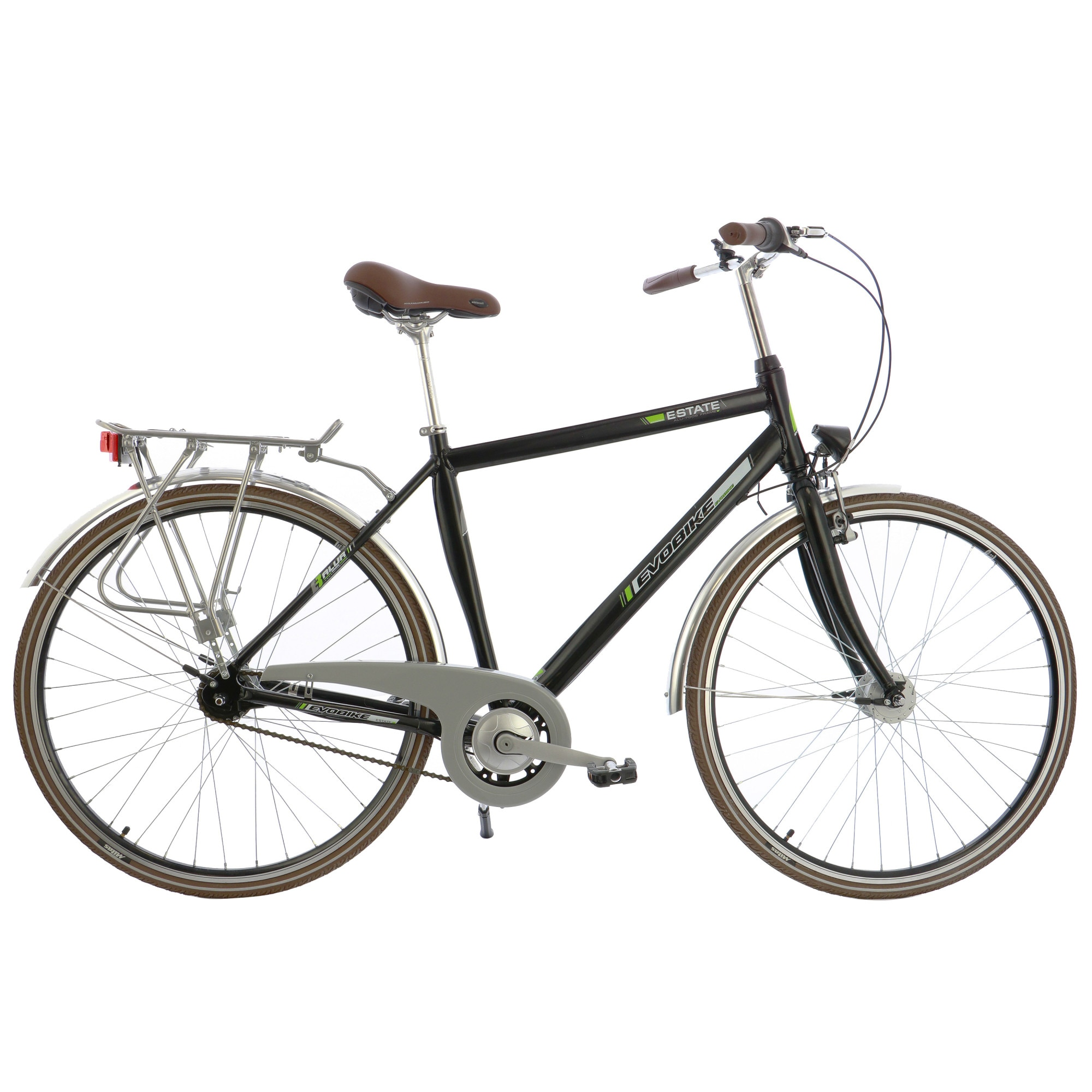 "Fotografie Bicicleta City 28"" Leader Evobike Estate, cadru AL, 53cm, Black"
