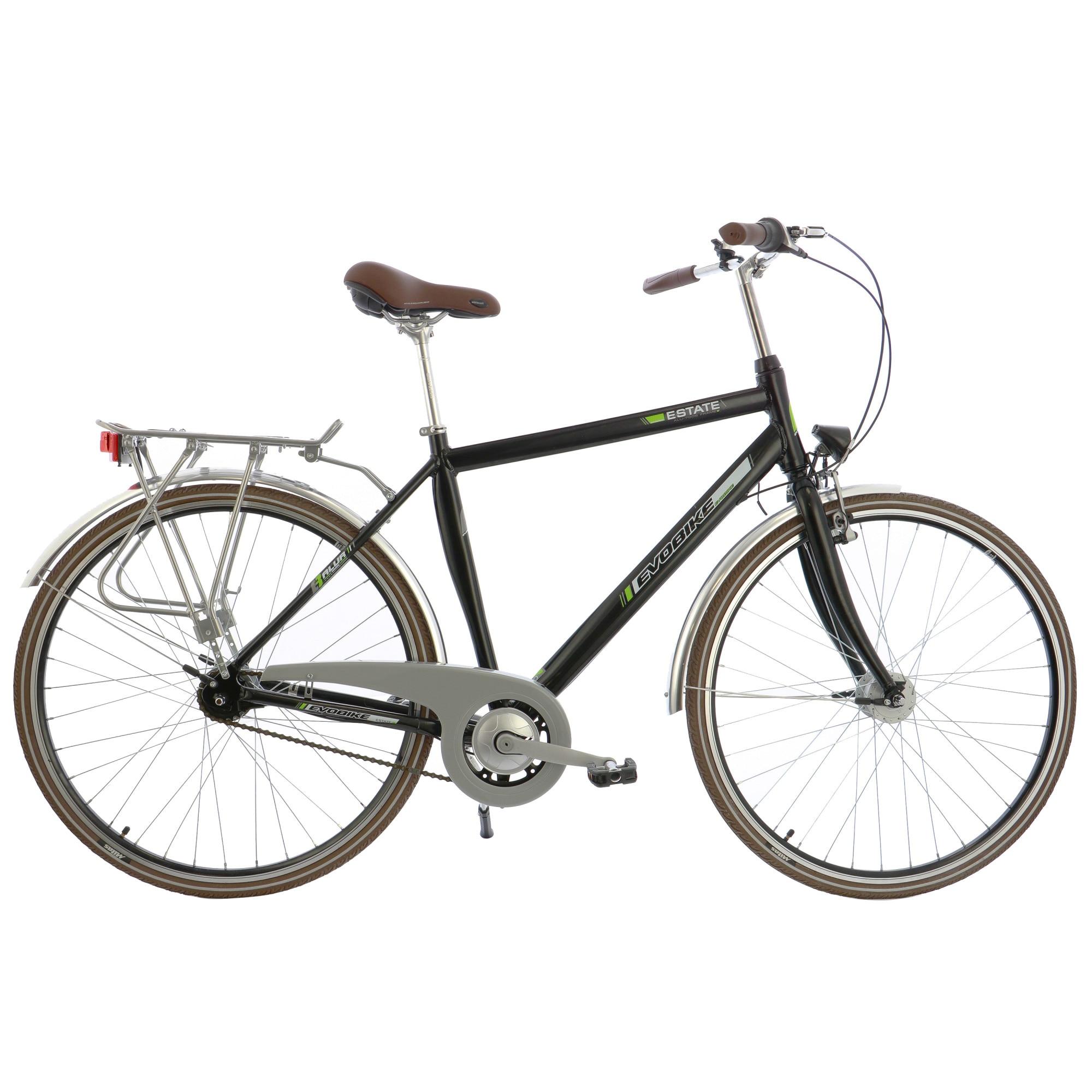 "Fotografie Bicicleta City 28"" Leader Evobike Estate, cadru AL, 53cm, Black"