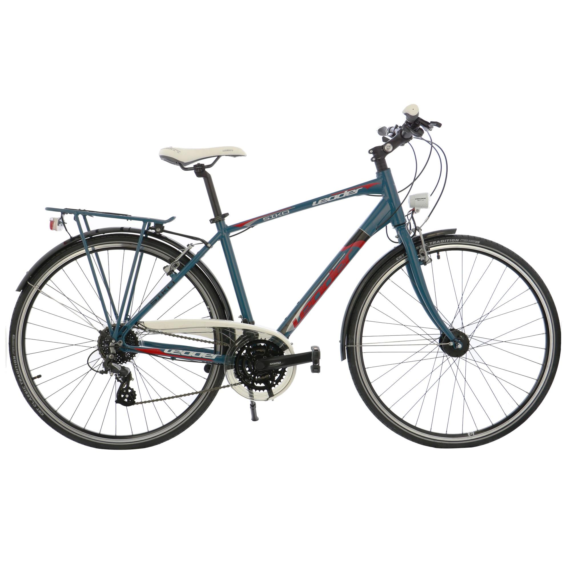 """Fotografie Bicicleta City 28"""" Leader Leader Siko transmisie Shimano, cadru AL, 48cm, Blue"""