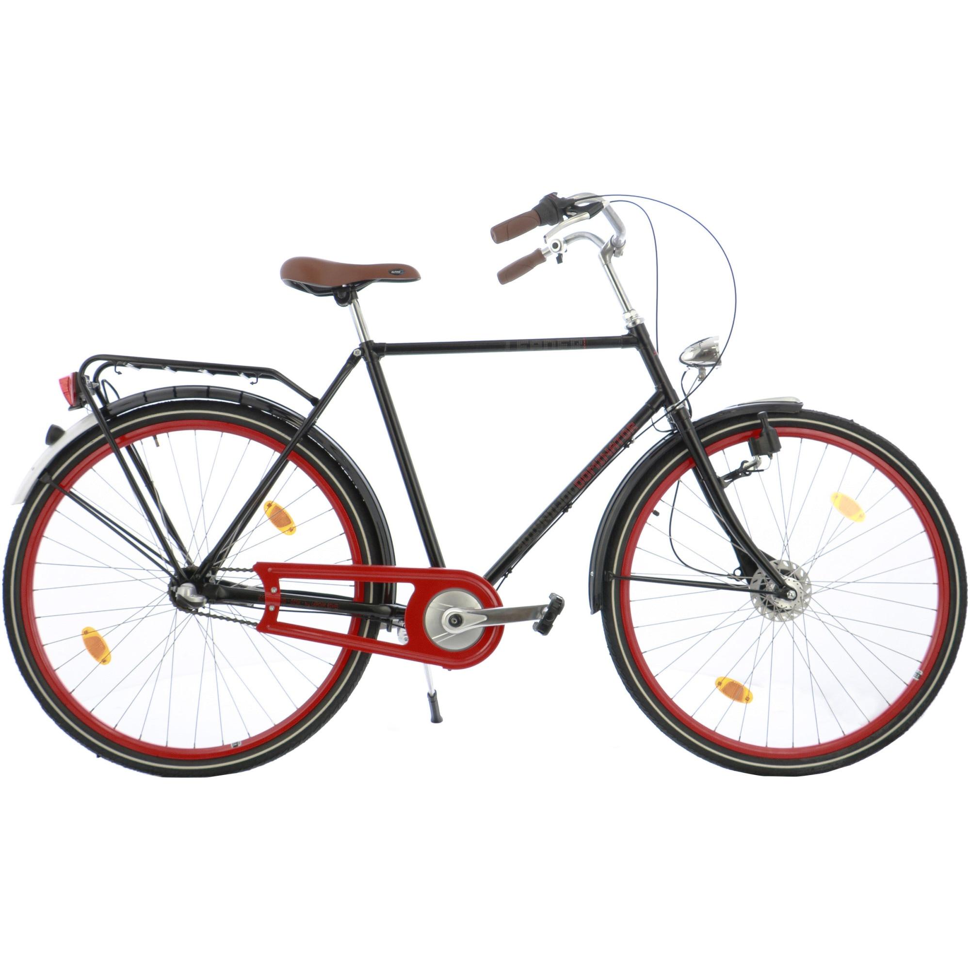"Fotografie Bicicleta City 28"" Leader Leader Retro transmisie NX 3v, frana fata Shimano Nexus, cadru 55cm, Black"