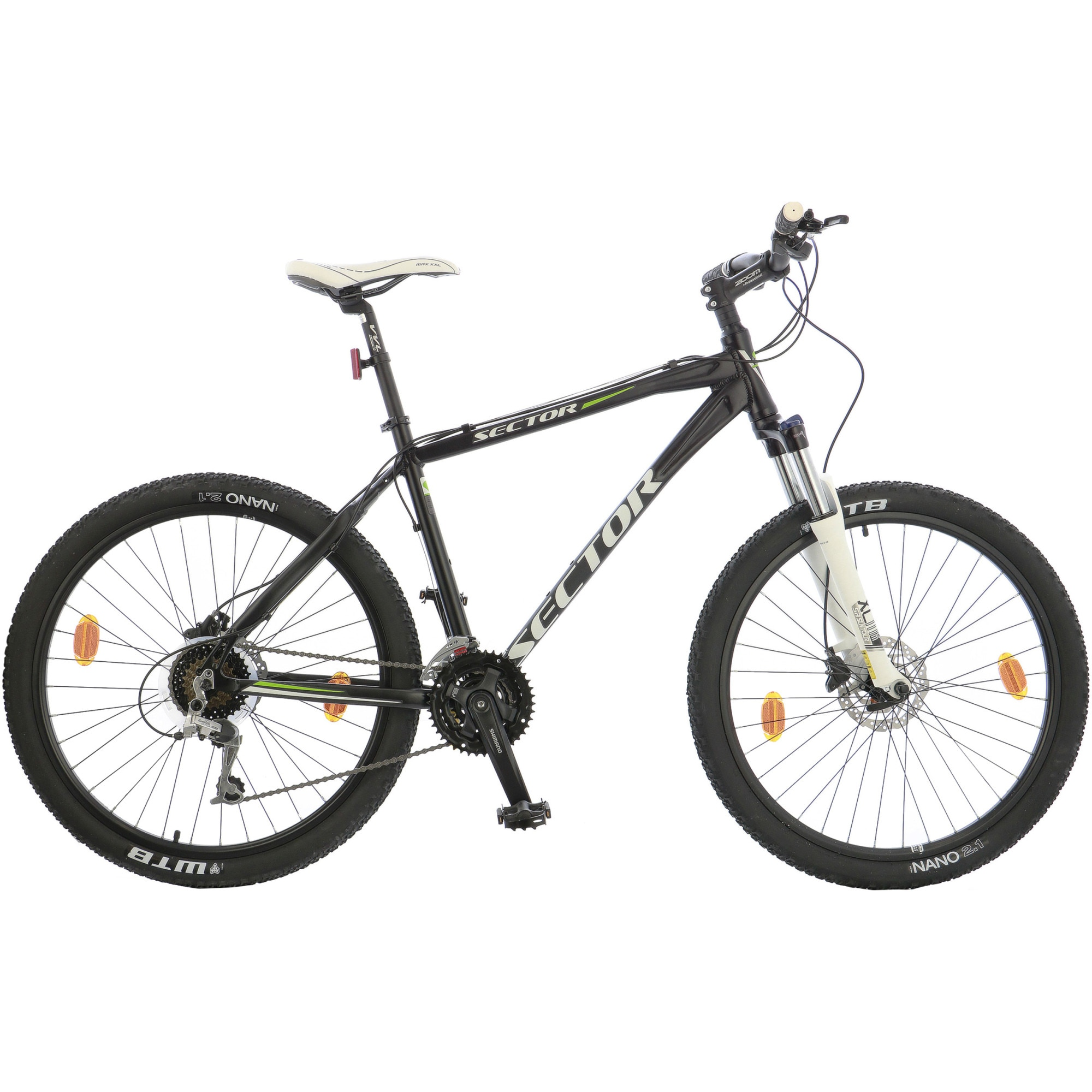 "Fotografie Bicicleta MTB 26"" Leader Sector Shimano Acera, frane hidraulice, furca Suntour, cadru AL, 47cm, Black"