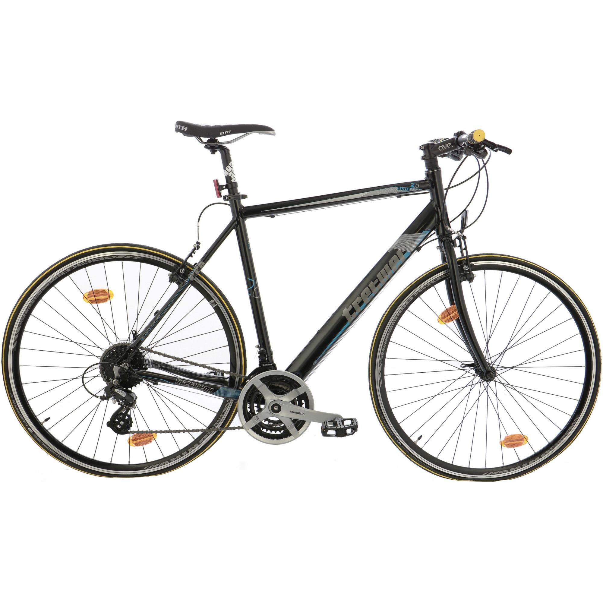 "Fotografie Bicicleta Trekking 28"" Leader Tretwerk Commuter echipare Shimano, cadru AL, 59cm, Black"