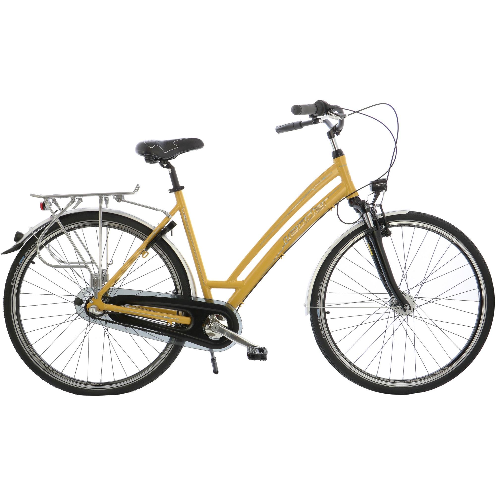 "Fotografie Bicicleta City 28"" Leader Low Urbano Transmisie Shimano, furca Suntour, cadru AL, 52cm, Yellow"