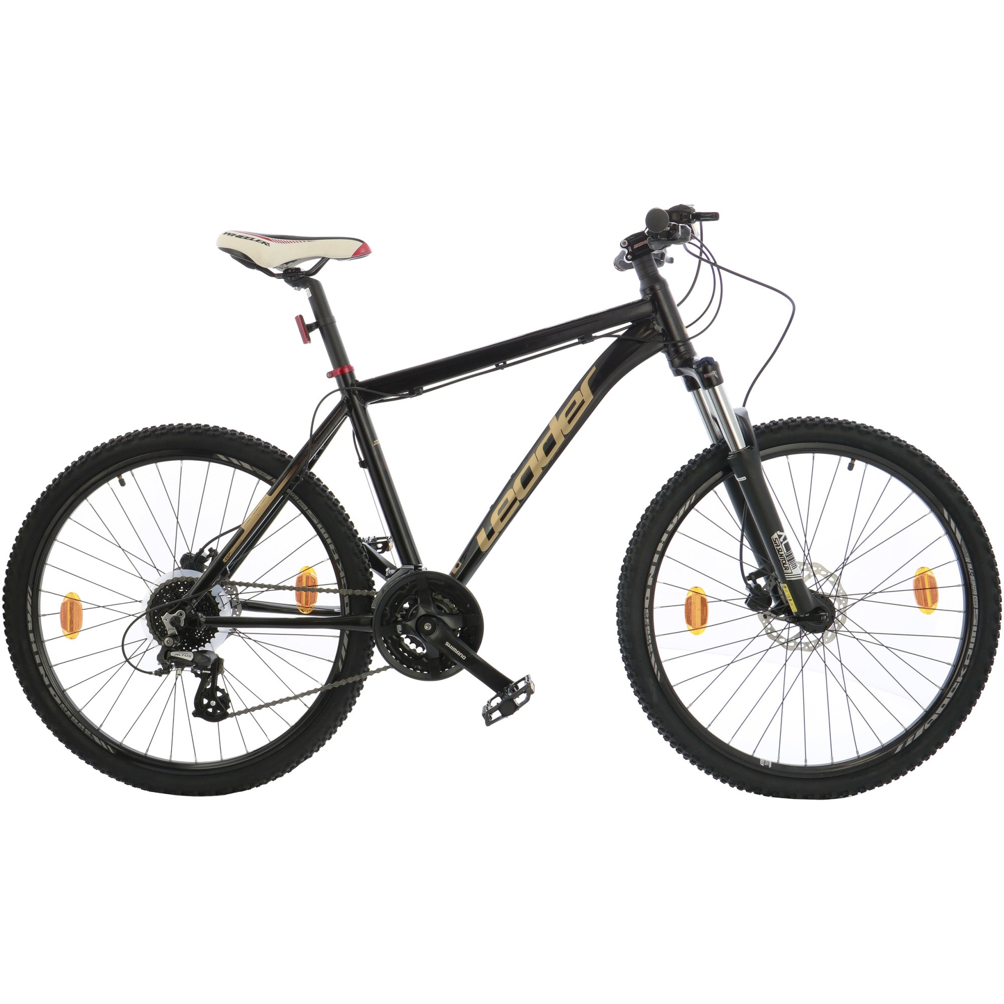 "Fotografie Bicicleta MTB 26"" Leader Trail transmisie Shimano, frane hidraulice, furca suntour XCM, cadru AL, 46cm, Black"