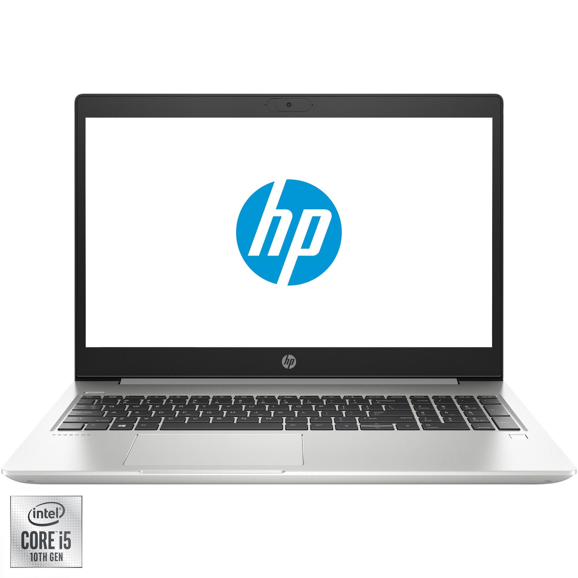"Fotografie Laptop HP ProBook 450 G7 cu procesor Intel Core i5-10210U pana la 4.20 GHz, 15.6"", HD, 8GB, 1TB HDD + 256GB SSD, GeForce MX130 2GB, Free DOS, Pike Silver"
