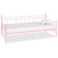 vidaXL rózsaszín fém kanapéágy-keret 208 x 95 x 83 cm