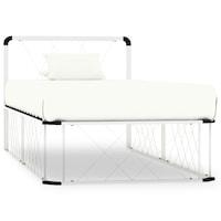vidaXL fehér rácsos fém ágykeret ágyráccsal 200 x 90 x 80,5 cm