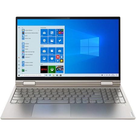 "Лаптоп Lenovo Yoga C740-15IML, 15.6"" FHD IPS Touch, Intel Core i5-10210U 4-core, 8GB DDR4, 256 GB SSD m2, Intel UHD Graphics, Windows 10 Home, Aluminum Body, Светло Сив"