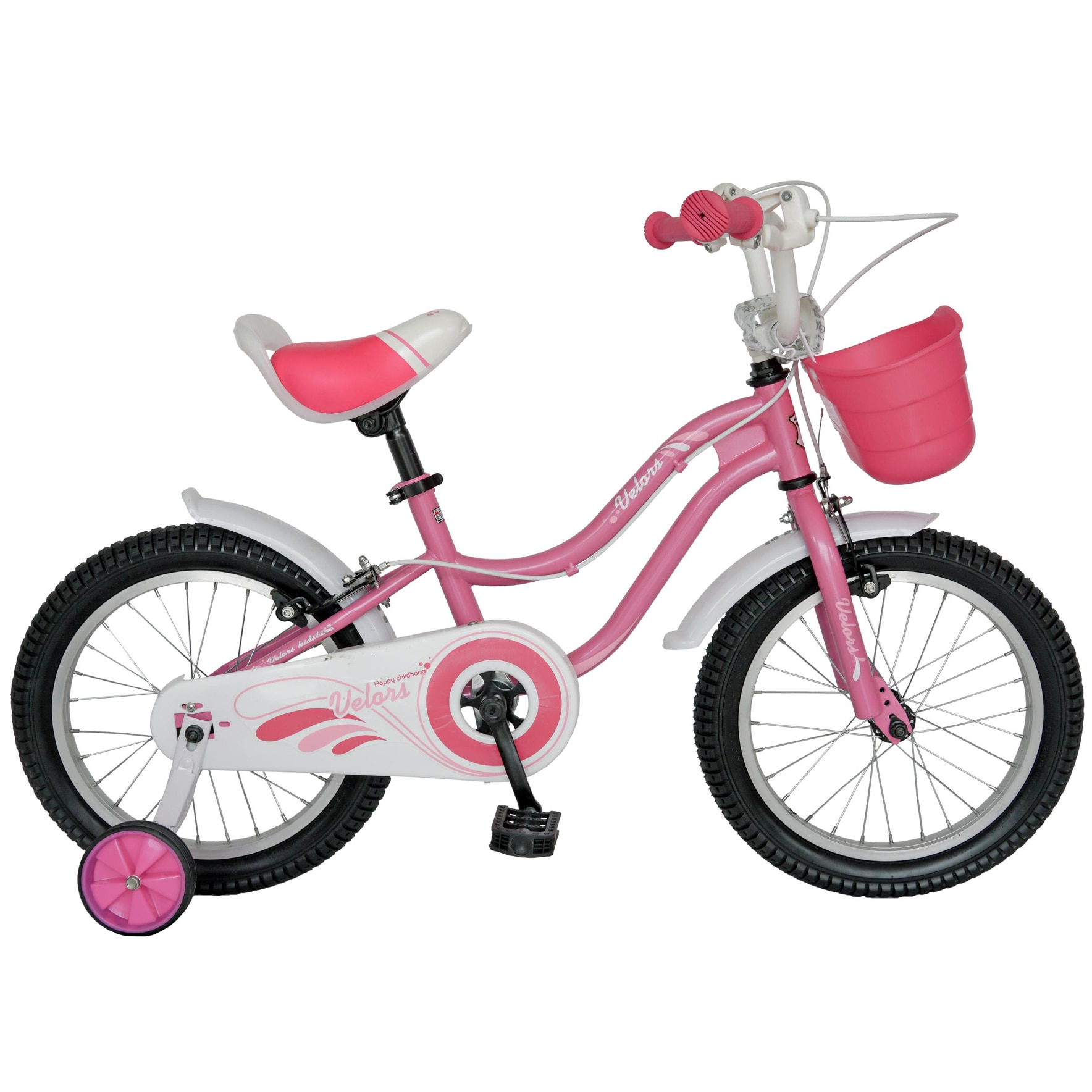 "Fotografie Bicicleta copii 14"" Velors V1402A, pentru fete, roz"
