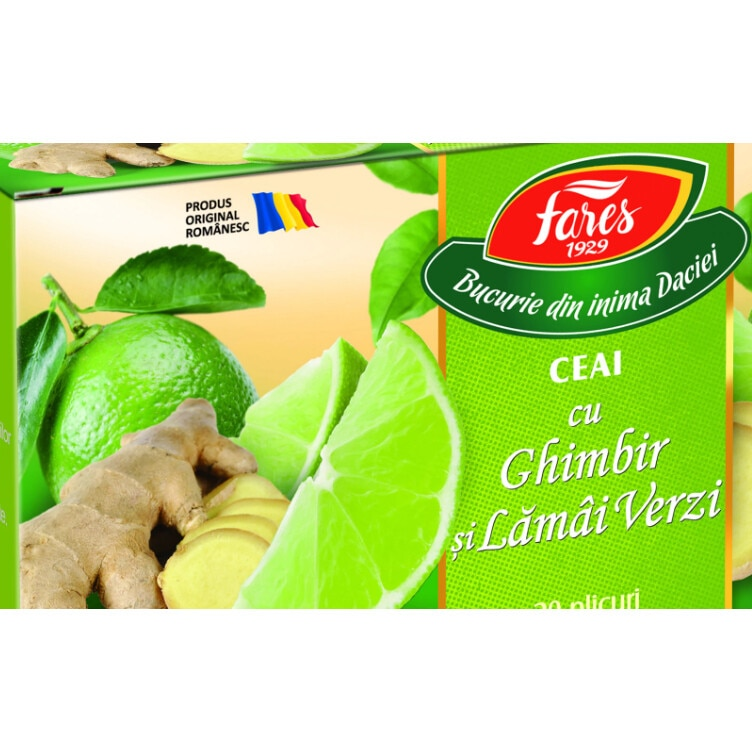 ceai ghimbir si lamai verzi