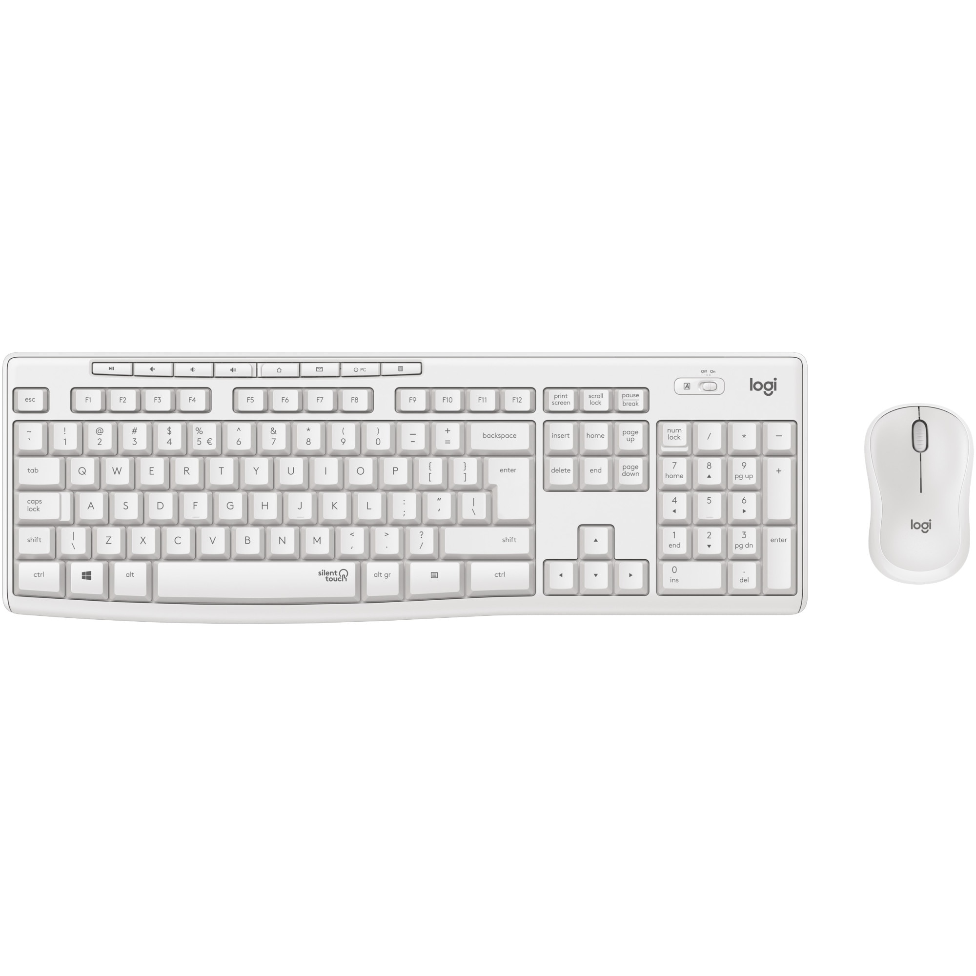 Fotografie Kit wireless tastatura si mouse Logitech MK295 Silent, US layout, Off white