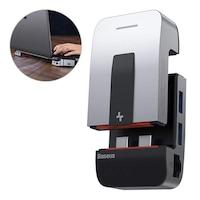 Baseus laptop állni multifunkcionális HUB USB Type-c - USB 3.0 / RJ45 / 3,5 mm-es mini jack / HDMI / USB Type-c / Thunderbolt 3 MacBook Pro szürke (CAHUB-AJ0G)