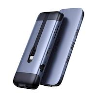 Ugreen 9w1 multifunkcionális HUB USB Type-c - HDMI / 3x USB 3.2 Gen 1 / czytnik kart SD micro SD / VGA / RJ45 / USB Type-c teljesítményleadás 100 W 20 V 5 A szürke (70.409 CM286)