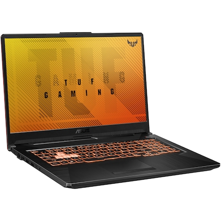 "Лаптоп Gaming ASUS TUF A17, 17.3"", AMD Ryzen™ 5 4600H, RAM 8GB, SSD 256GB, HDD 1TB, NVIDIA® GeForce®GTX1650Ti 4GB, Free DOS, Black"