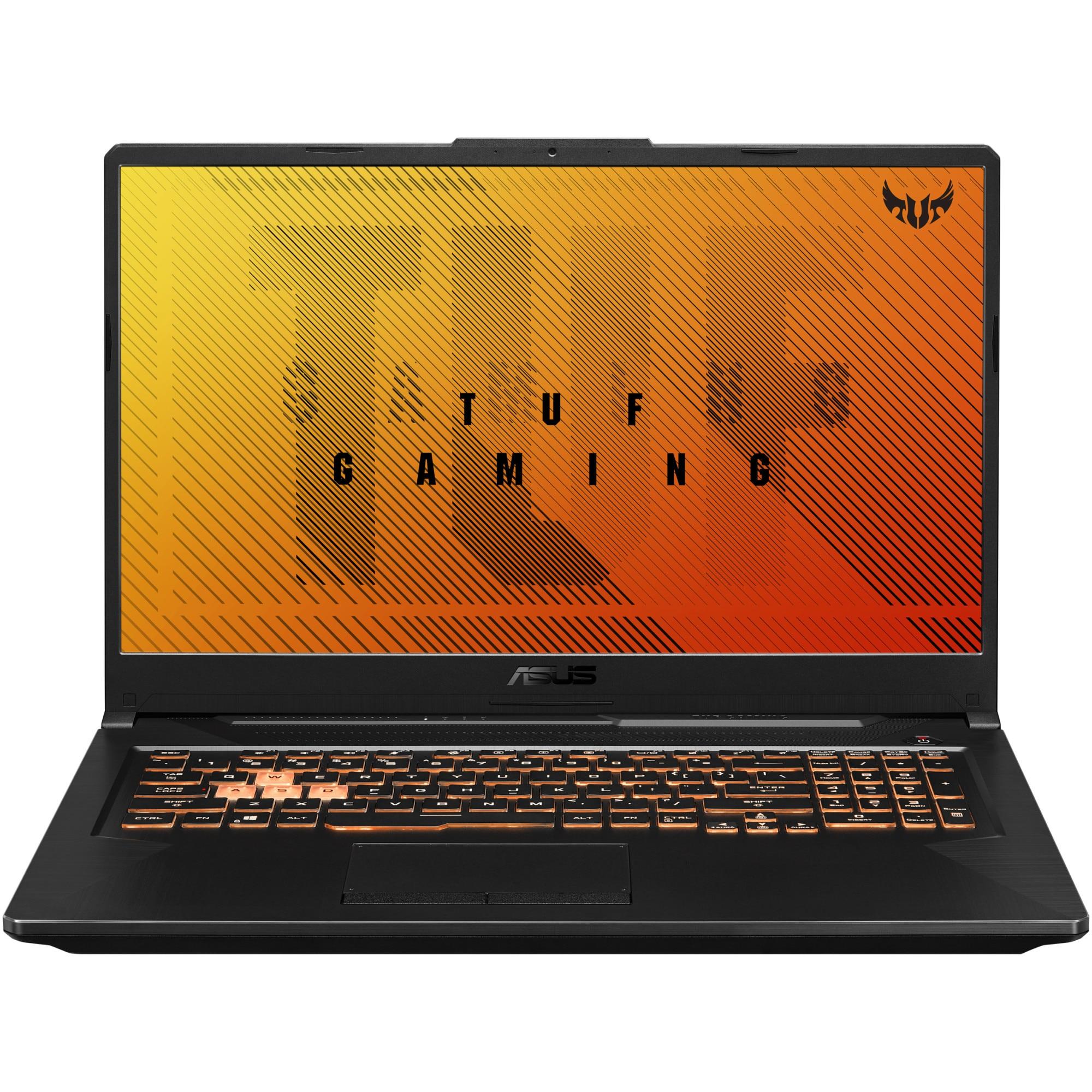 "Fotografie Laptop Gaming ASUS TUF A17 cu procesor AMD Ryzen™ 5 4600H pana la 4.00 GHz, 17.3"", Full HD, 120 Hz, 8GB, 1TB HDD + 256GB GD SSD, NVIDIA® GeForce® GTX 1650 Ti 4GB, Free DOS, Black"