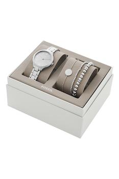 Fossil, Set de ceas analog si bratari, Argintiu