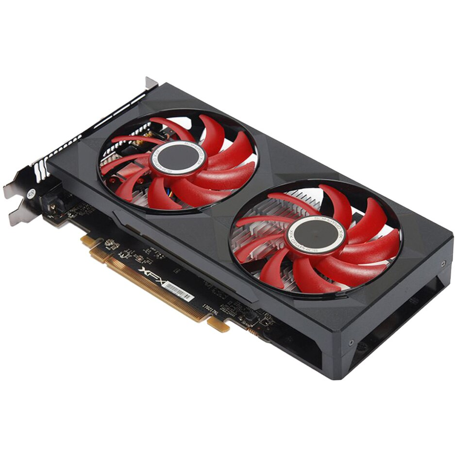 Fotografie Placa video XFX Radeon™ RX 550 Double Dissipation, 4GB GDDR5, 128-bit