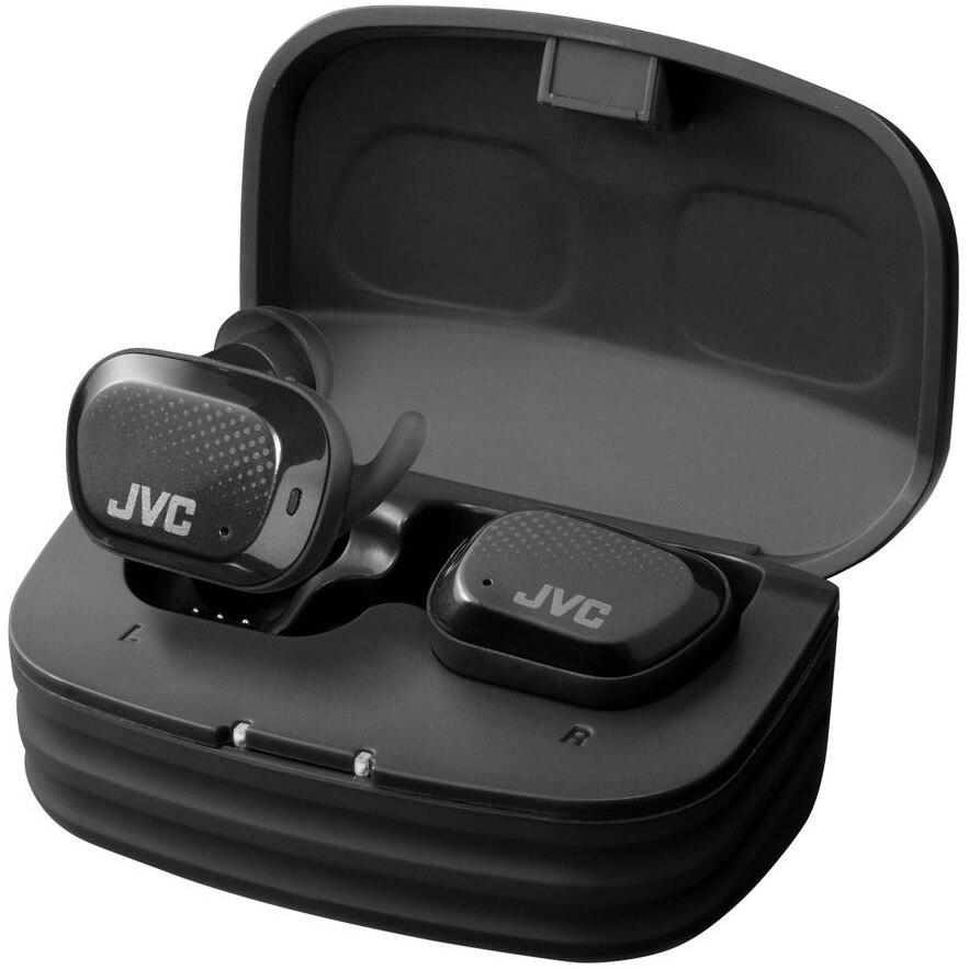 Fotografie Casti Audio In Ear JVC HA-AE5T-B-U, True Wireless, Bluetooth, Noise cancelling, Microfon, Autonomie 9 ore, Negru