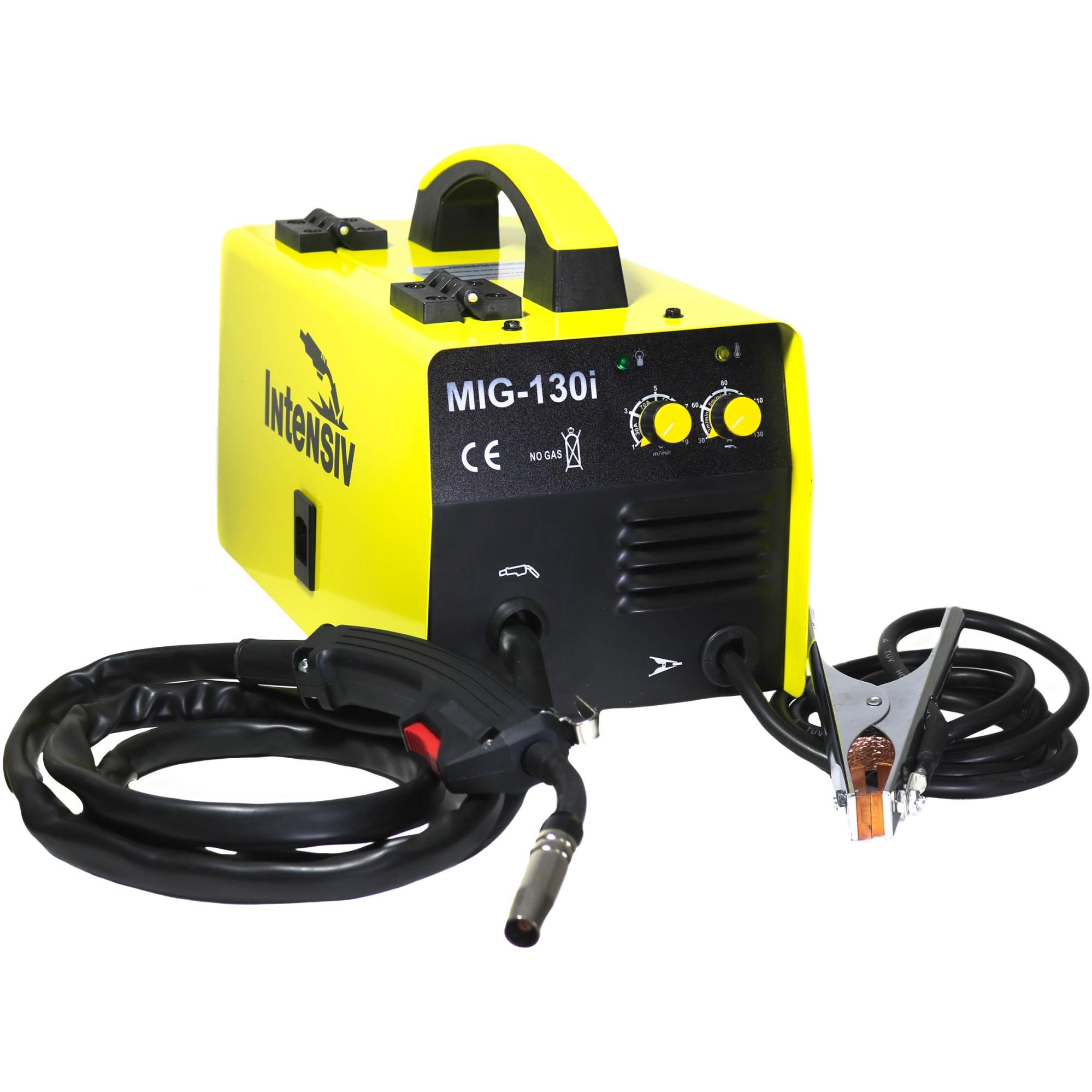 Fotografie Aparat sudura MIG MAG tip invertor, cu sarma cu flux, Intensiv MIG 130i, curent de sudare 30-120A, 230 V, rola maxim 1 kg, accesorii sudura