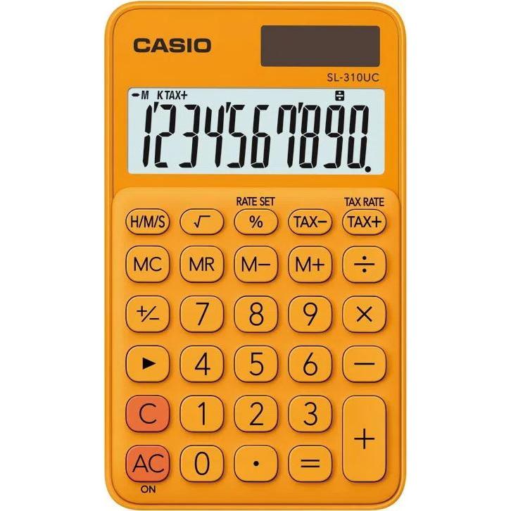 Fotografie Calculator Casio birou 10 digits sl-310uc, portocaliu