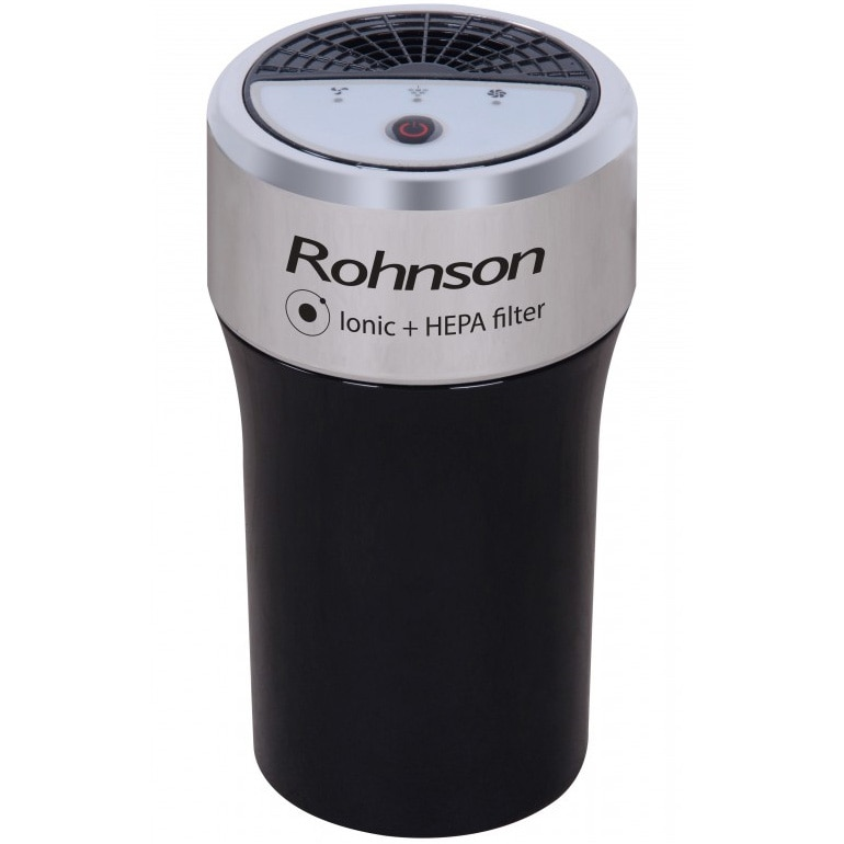 Fotografie Purificator pentru masina Rohnson R9100, CADR 40 m3/h, Functie ionizare, Filtru HEPA, Negru