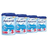 Pachet 4x lapte praf Aptamil Junior 3+, 800g, de la 3 ani, 3.2kg