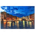 Картина с LED лампички, Венеция, Многоцветен, 60 х 40 см